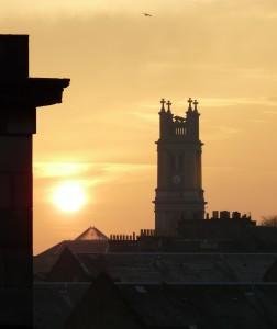 Summer Sunrise, St Vincent Church Spire