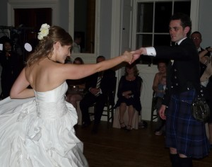 Mr and Mrs Waters' first dance