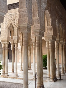 Marble Colums of Patio de los Leones