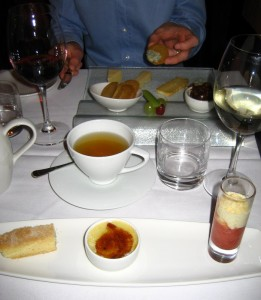 Creme brulee and cheese board