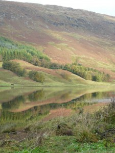 Mirror image at Loch Lubhair