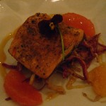 Trout with orange salad