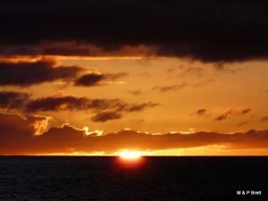 Sun falling