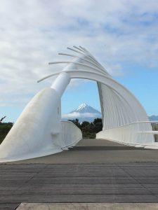Te Rewa Rewa Bridge and Mount Taranaki